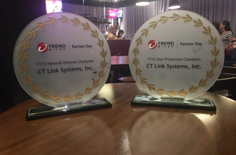 Trend Micro Presents Two Major Awards to CT Link Systems for FY15 Champion Performance