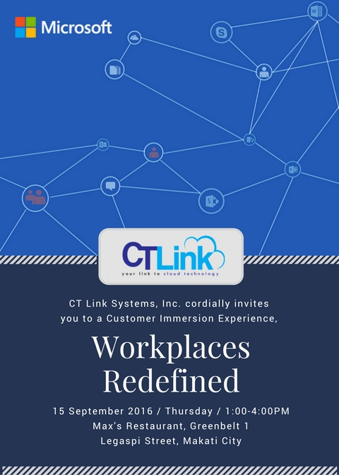 Workplaces Redefined – A Workshop by Microsoft and CT Link Systems