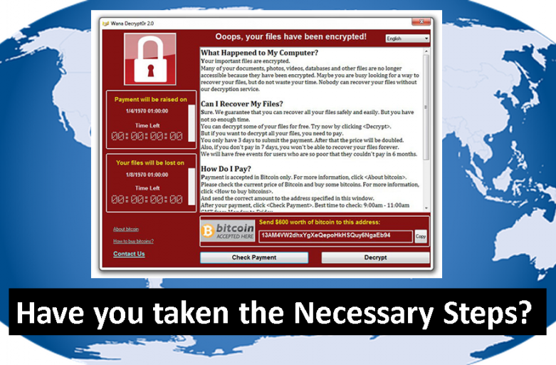 An Advisory from CT Link Systems, Inc. for WannaCry Ransomware Attacks