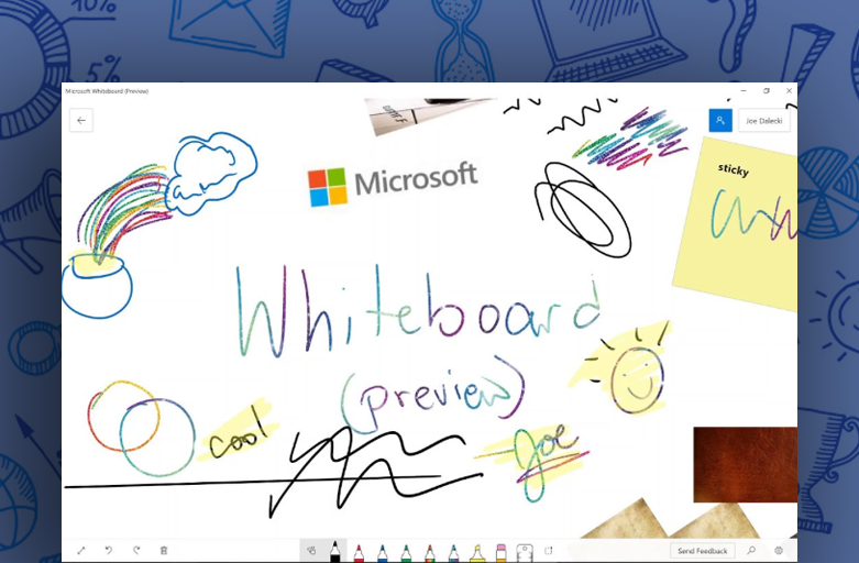 Microsoft Whiteboard is now available on Web and Teams!